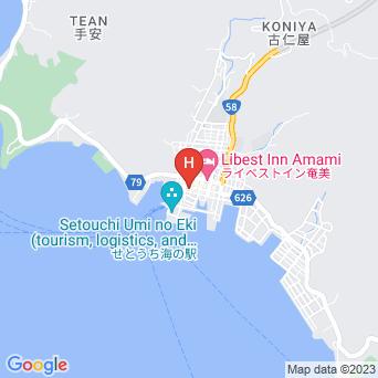 古仁屋旅館の地図