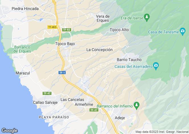 Map for Los Menores, Tenerife, Spain
