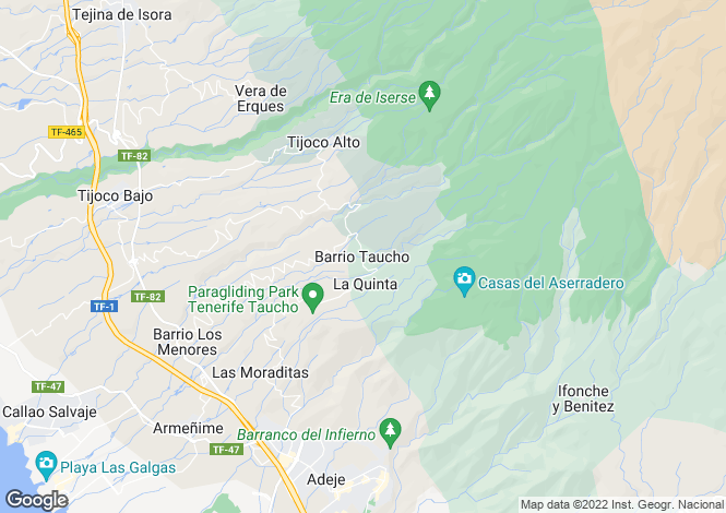 Map for Taucho, Tenerife, Spain