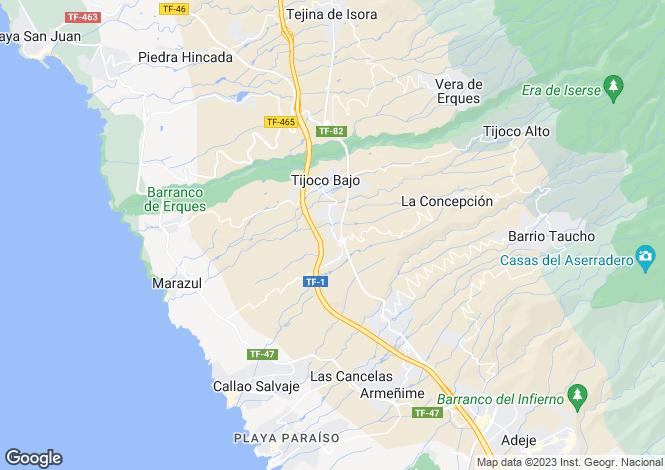 Map for Tijoco Bajo, Tenerife, Spain