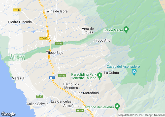 Map for La Concepción, Tenerife, Canary Islands