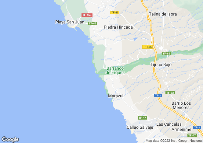 Map for Abama, Tenerife, Spain