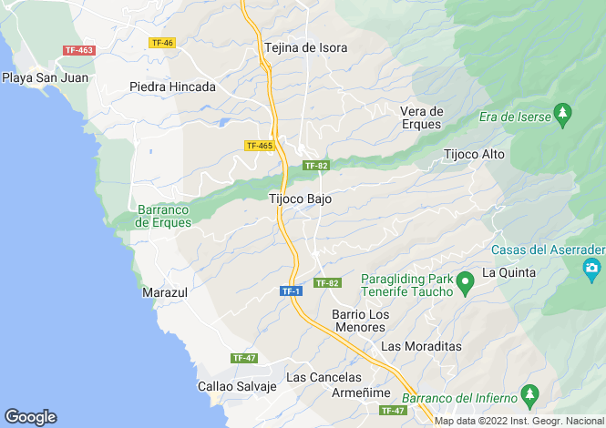 Map for Canary Islands, Tenerife, Adeje