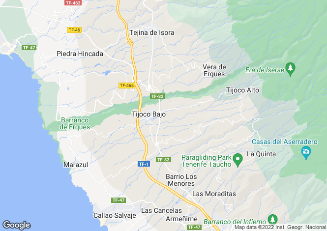 Map for Tijoco Bajo, Tenerife, Spain