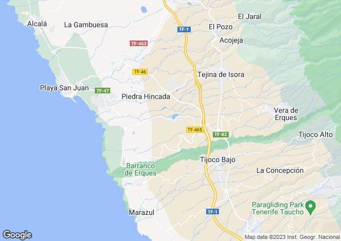 Map for Canary Islands, Tenerife, Tejina de Guia