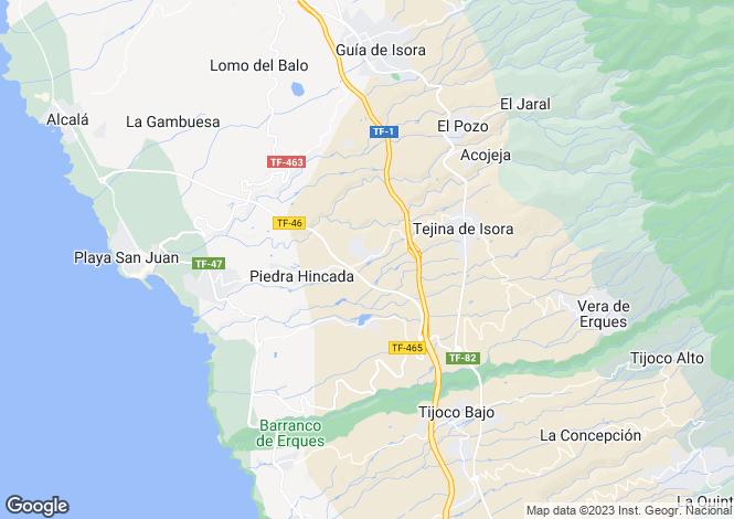 Map for Canary Islands, Tenerife, Guia de Isora