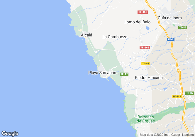 Map for Playa San Juan, Tenerife, Spain