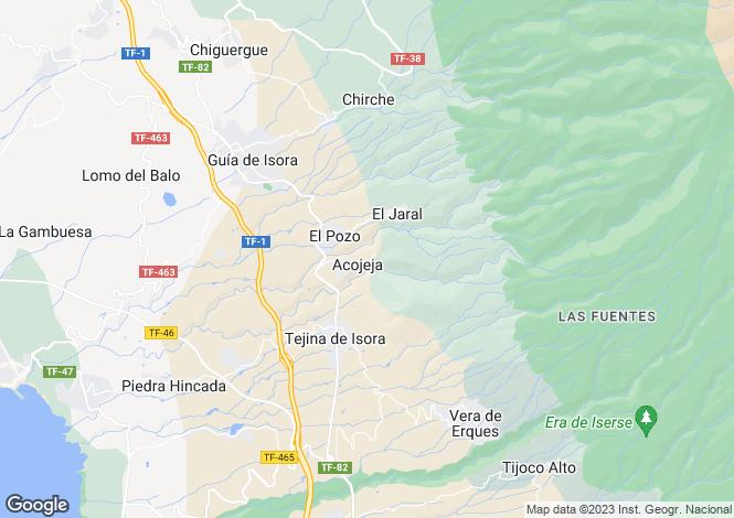 Map for Guia de Isora, Tenerife, Spain
