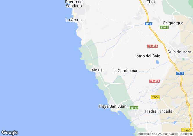 Map for Alcala, Tenerife, Canary Islands