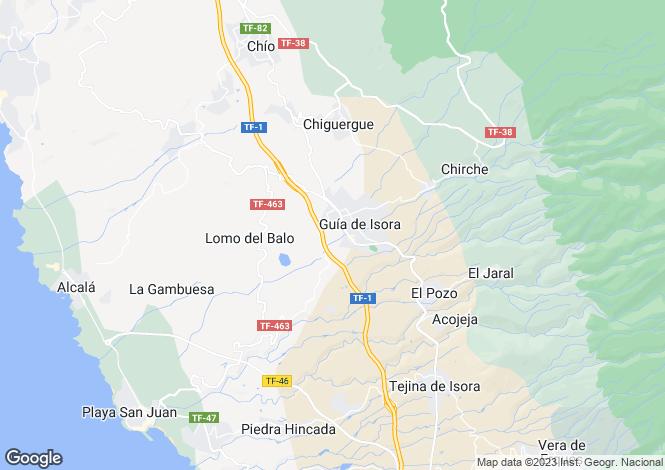 Map for Guia de Isora, Tenerife, Canary Islands