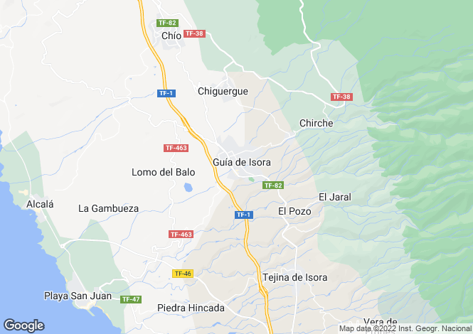 Map for Guia de Isora, Tenerife, Canary Islands
