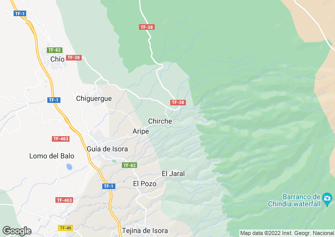 Map for Chirche, Tenerife, Spain