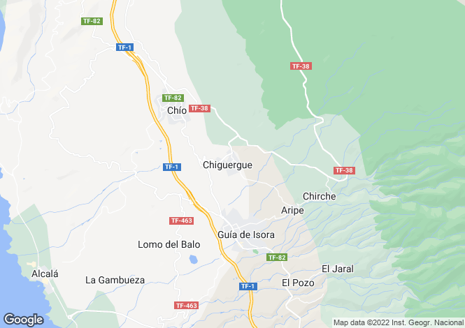 Map for Chiguergue, Tenerife, Spain