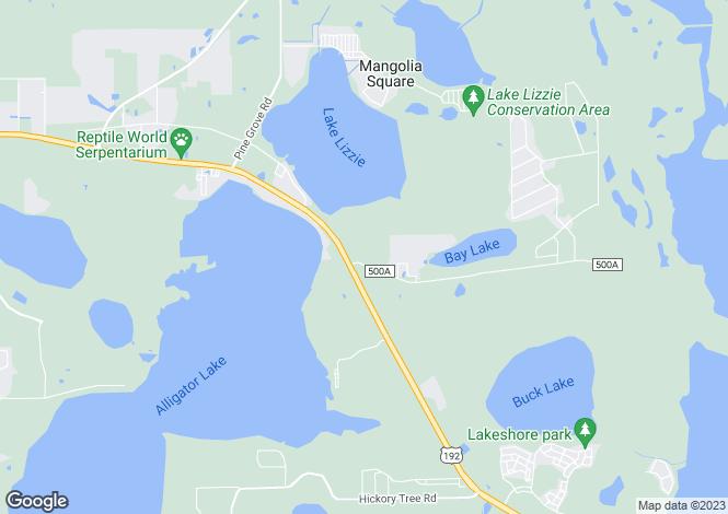 Map for St Cloud, Osceola County, Florida