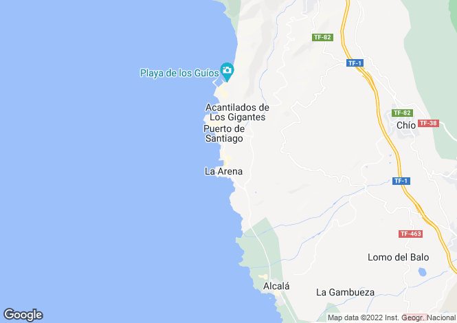 Map for Playa de la Arena, Tenerife, Canary Islands