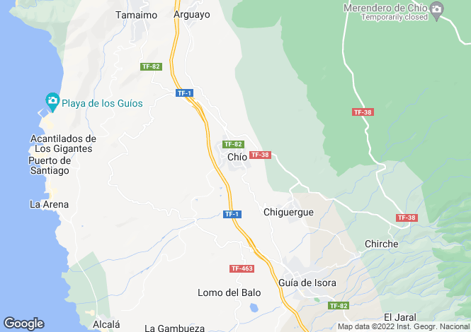 Map for Chio, Tenerife, Spain