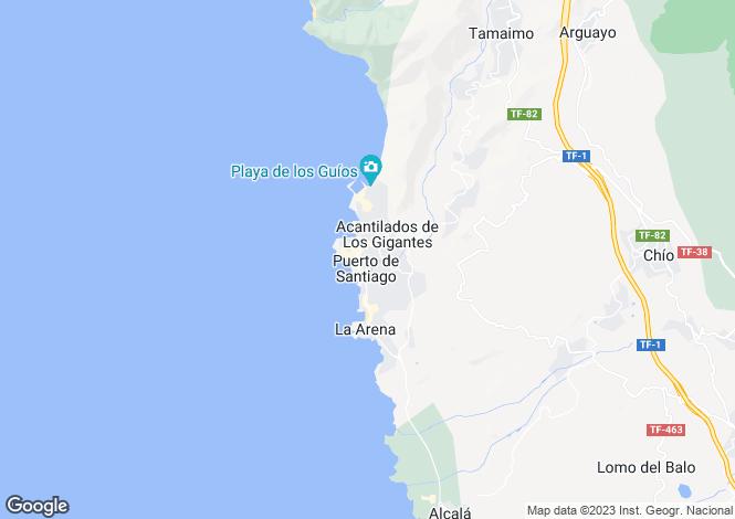 Map for Canary Islands, Tenerife, Puerto de Santiago