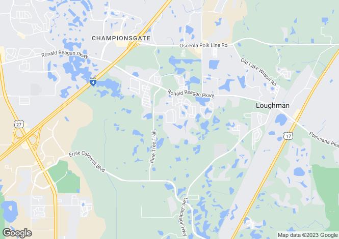 Map for Florida, Polk County, Davenport