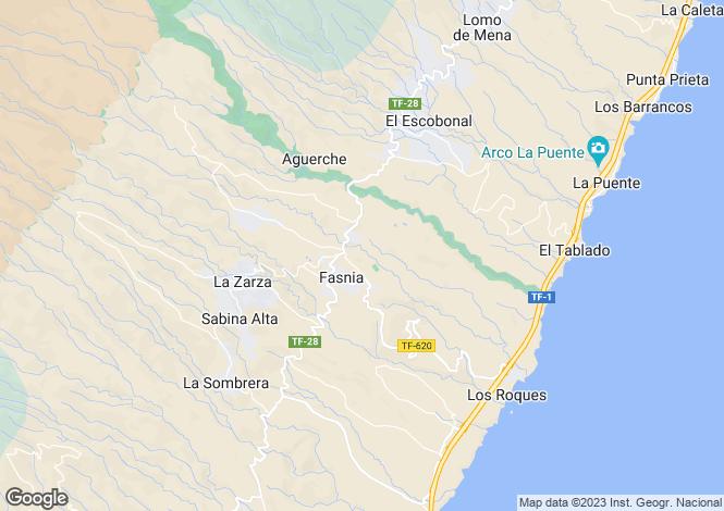 Map for Canary Islands, Tenerife, Fasnia