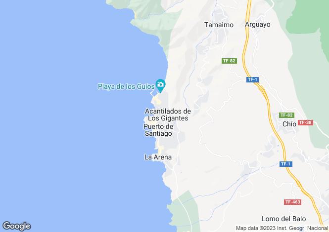 Map for Los Gigantes, Tenerife, Spain
