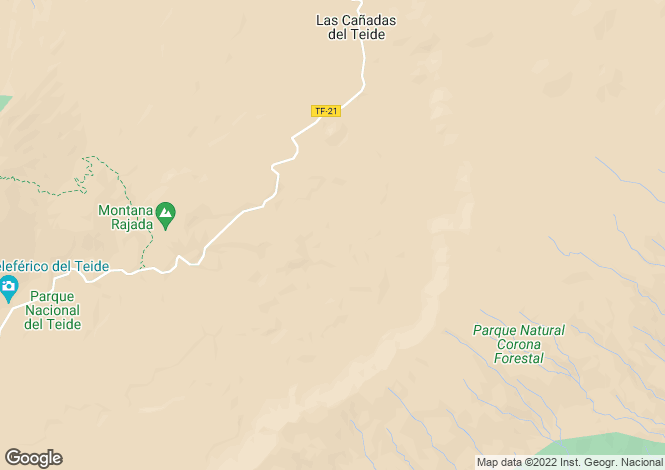 Map for La Orotava, Tenerife, Spain