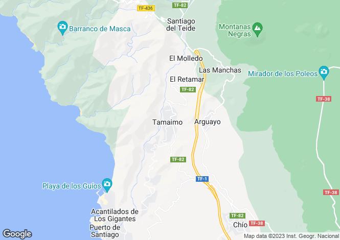 Map for Canary Islands, Tenerife, Santiago Del Teide