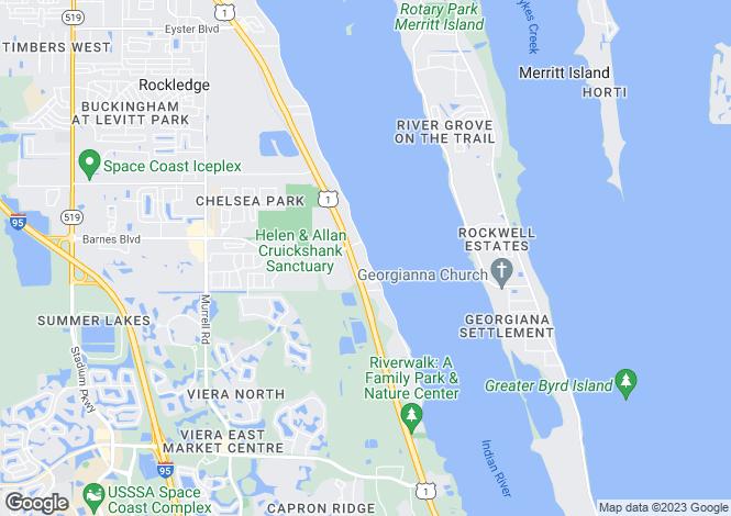 Map for USA - Florida, Brevard County, Rockledge