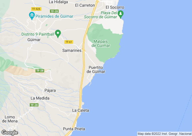 Map for Puertito de Guimar, Tenerife, Spain