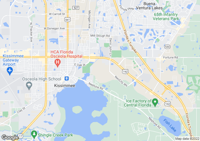 Map for Kissimmee, Osceola County, Florida