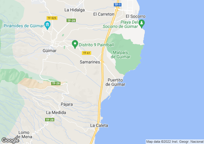 Map for Los Gigantes, Tenerife, Canary Islands