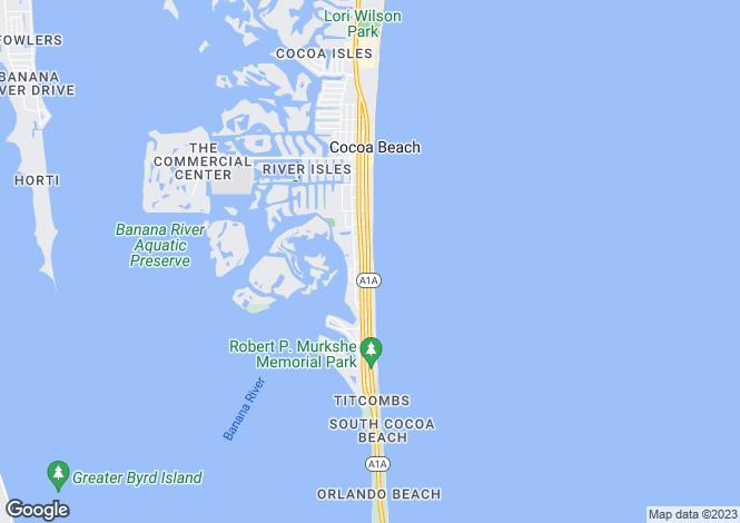 Map for USA - Florida, Brevard County, Cocoa Beach