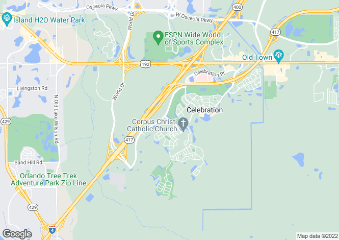 Map for USA - Florida