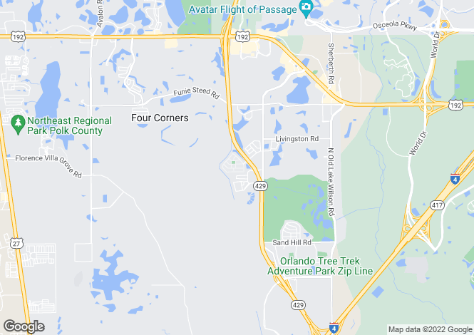 Map for USA - Florida, Osceola County, Kissimmee