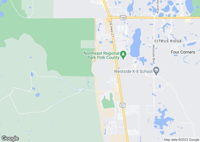 Map for USA - Florida, Polk County, Davenport