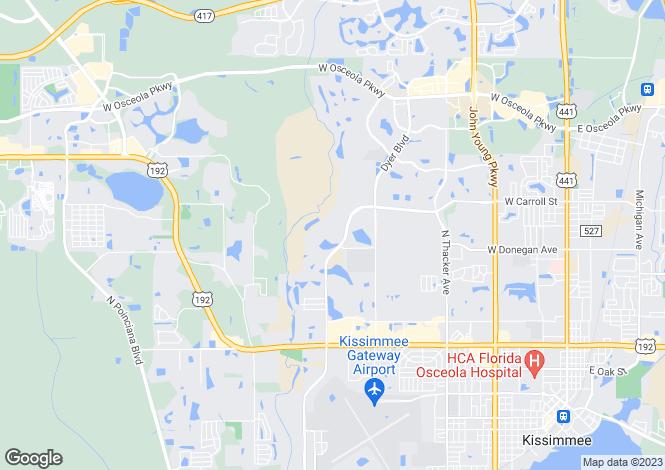 Map for Florida, Osceola County, Kissimmee