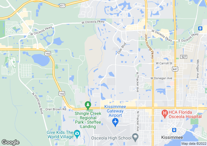 Map for Florida, Osceola County, Kissimmee