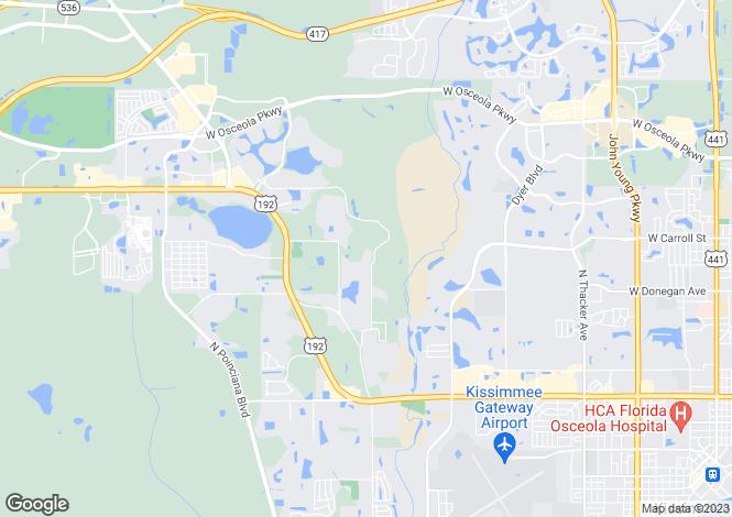 Map for Florida, Orange County, Orlando