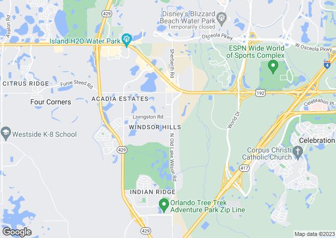 Map for USA - Florida, Osceola County, Kissimmee