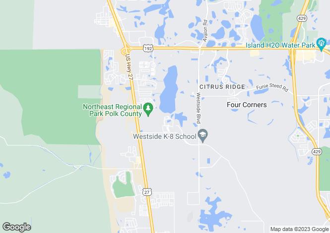 Map for Davenport, Polk County, Florida