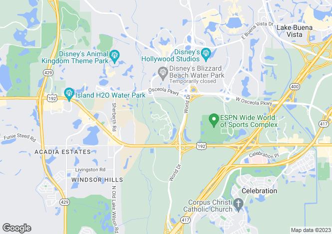 Map for Four Corners, Osceola County, Florida