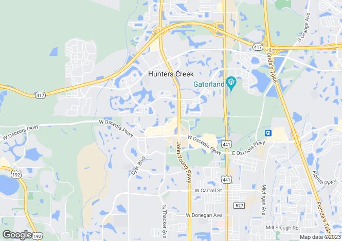 Map for Kissimmee, Osceola County, Florida