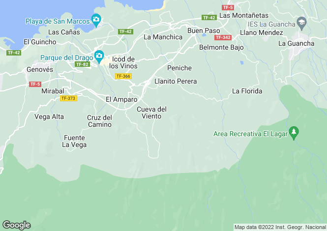 Map for Icod de Los Vinos, Tenerife, Spain