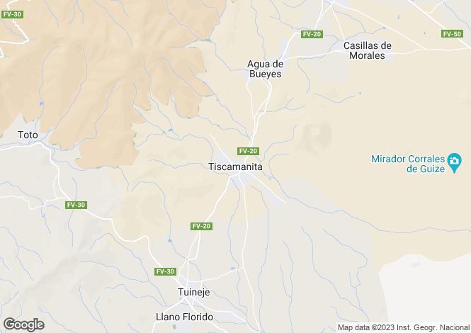 Map for FUERTEVENTURA, Lanzarote, Spain