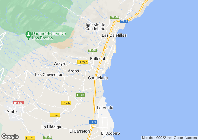 Map for Candelaria, Tenerife, Canary Islands