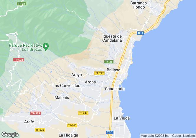 Map for Villa De Candelaria, Tenerife, Spain