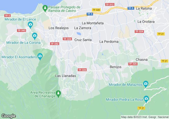 Map for Los Realejos, Tenerife, Spain