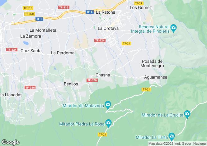 Map for La Orotava, Tenerife, Spain