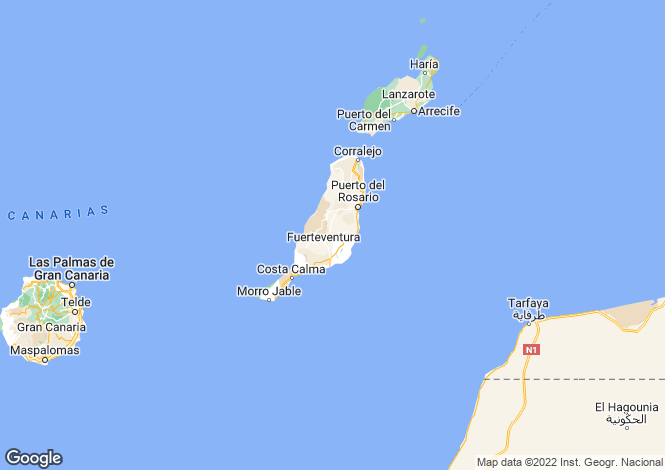 Map for La Capellania, Fuerteventura, Spain