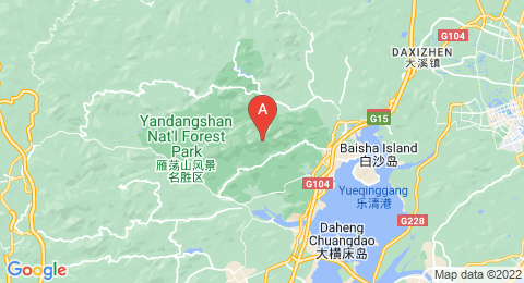 map of Yandang Mountains (China)