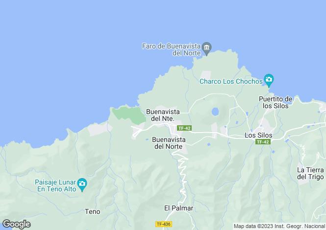 Map for Buenavista del Norte, Tenerife, Spain